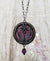 Iris Viola ~ Amethyst Stained Glass Floriated Amulet