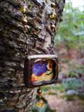 Iris, Moth, Snail. Illuminated ~ Pictorial Shrine Amulet