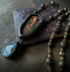 Lady Macbeth ~ Iridescent Stained Glass Pictorial Shrine Amulet