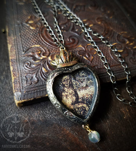 LionHeart ~ Sacred Heart Pictorial Amulet
