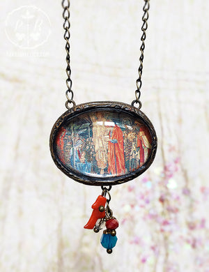 Adoration of the Magi ~ Edward Burne Jones Pictorial Shrine Amulet
