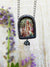 Guinevere's Maying ~ Etched Glass Pictorial Shrine Amulet