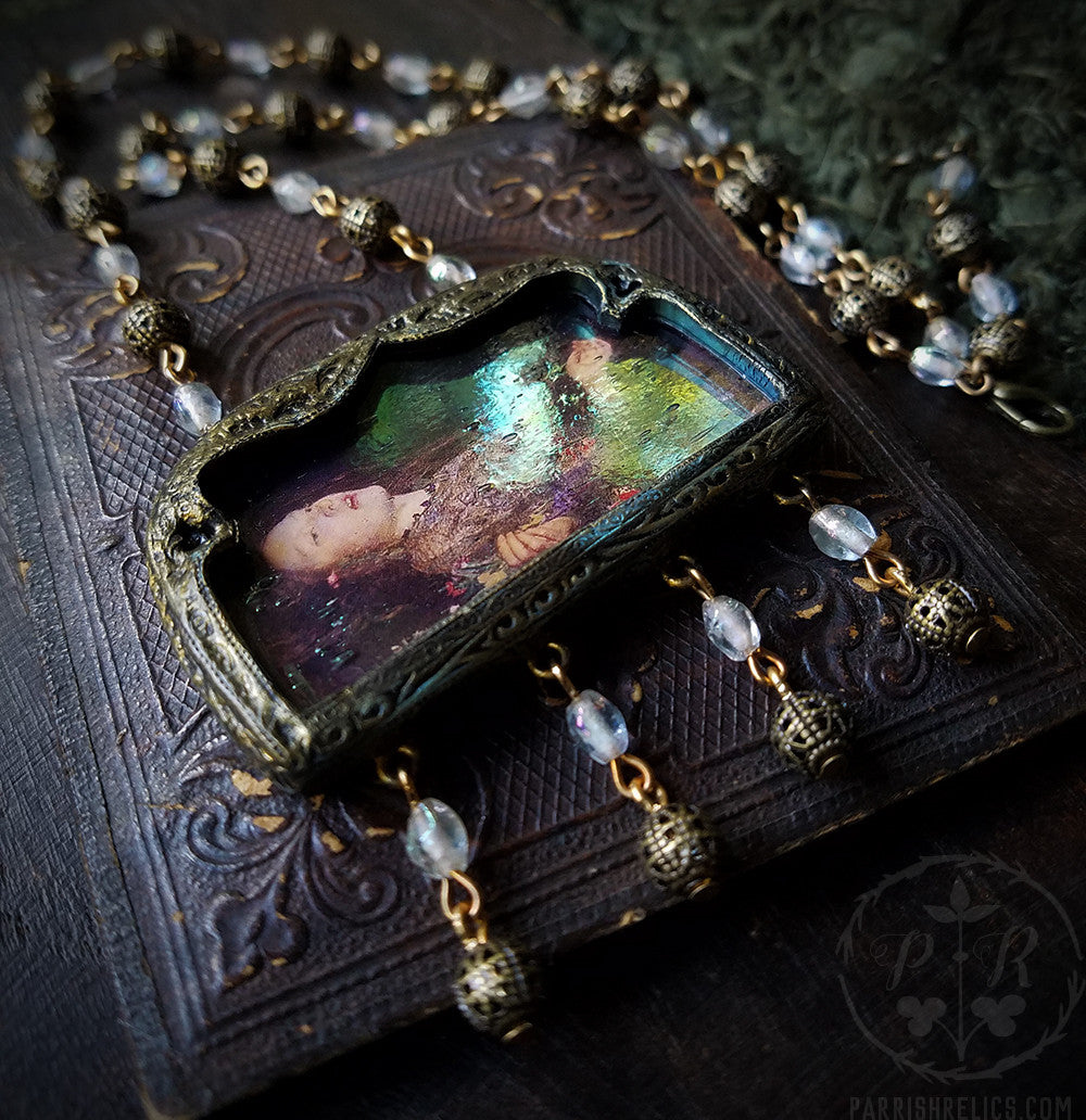 Iridescent Ophelia ~ Pictorial Shrine Amulet