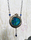 Gaia Ouroboros ~ Stained Glass Amulet