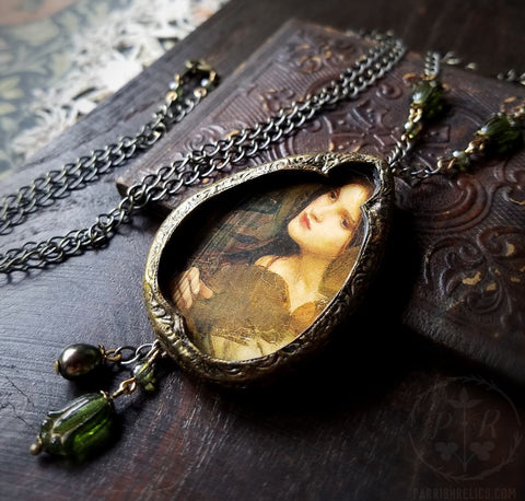 In a Glade ~ J.W.Waterhouse Pictorial Shrine Amulet