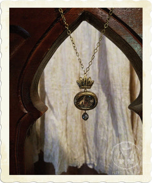 Hound & Hare ~ Crowned Tapestry Amulet