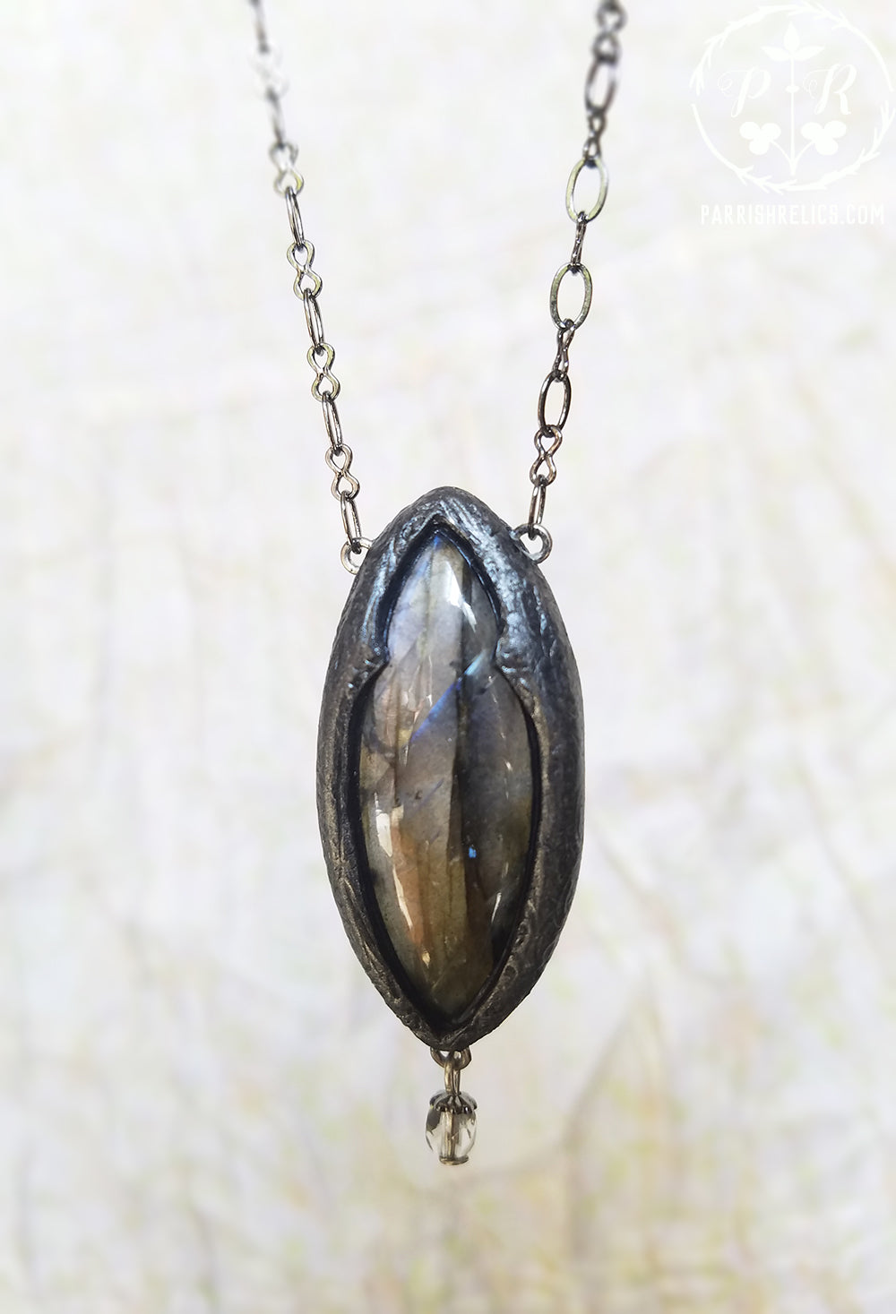 Arch of Pasithea ~ Labradorite Gothic Arch Amulet
