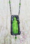 Pomona's Arch ~ Stained Glass Amulet