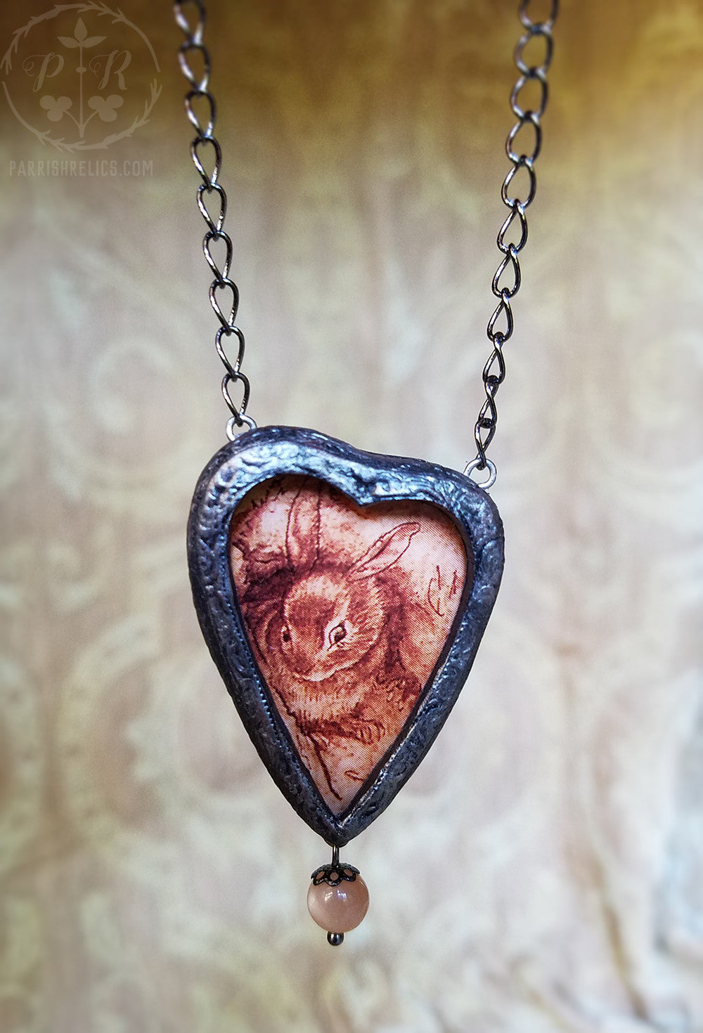 Rackham Rabbit Heart ~ Pictorial Shrine Amulet