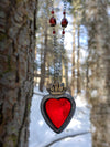 Sacre Coeur ~ Sacred Heart Stained Glass Amulet