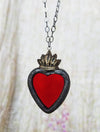 Sacred Heart ~ Stained Glass Amulet