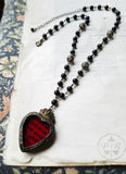 Incunabula Sacred Heart ~ Stained Glass Amulet