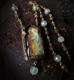 Saint Catherine & Saint Agnes ~ Pictorial Shrine Amulet