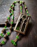Emerald Cathedral Stained Glass Window Amulet