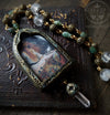Lady of Shalott ~ Quartz Crystal Pictorial Shrine Amulet