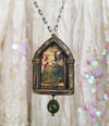 St. Dorothy ~ Gothic Arch Pictorial Shrine Amulet