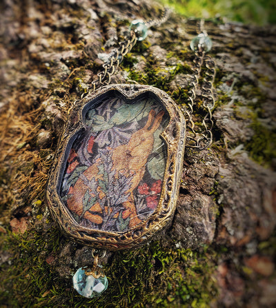 Forest Tapestry Hare Pictorial Shrine Amulet