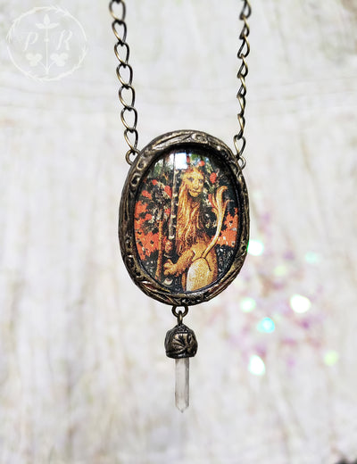 Unicorn Tapestry Lion ~ Pictorial Shrine Amulet