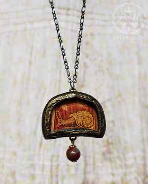 Tapestry Snail Pictorial Shrine Amulet