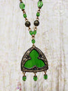 Belle of New Orleans Stained Glass Trefoil Amulet