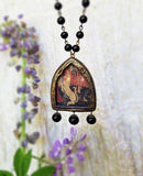 The Unicorn ~ Gothic Arch Pictorial Shrine Amulet