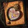 Unicorn Sacred Heart ~ Medieval Illumination Pictorial Shrine Amulet