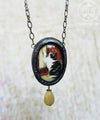 Victorian Cat Pictorial Shrine Amulet