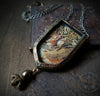 Winged Stag Tapestry Pictorial Shrine Amulet