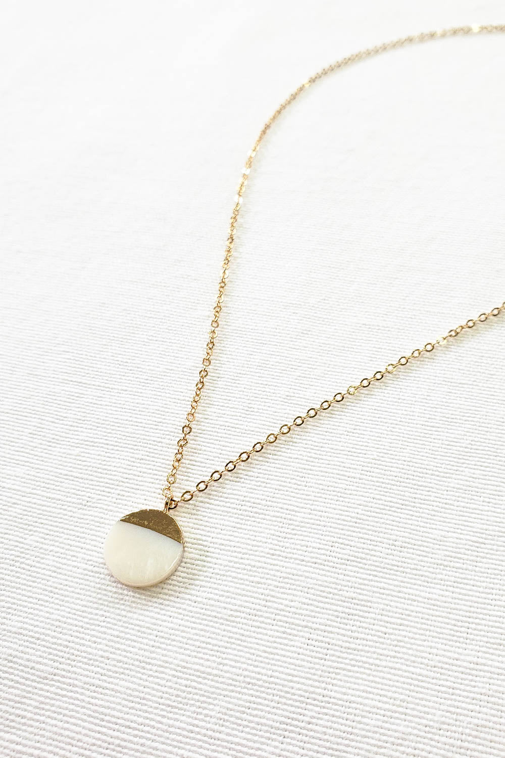 Gold Dipped Pearl Necklace