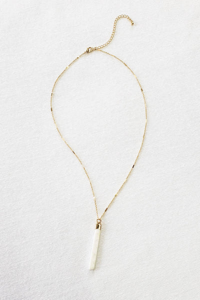 White Jasper Pendant Necklace