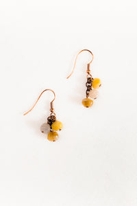 Grape Bead Earrings