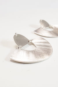 Sienna Statement Earrings - Silver