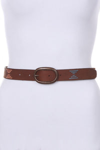 M Rena Aztec Leather Belt