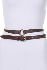 Double Wrap Leather Belt