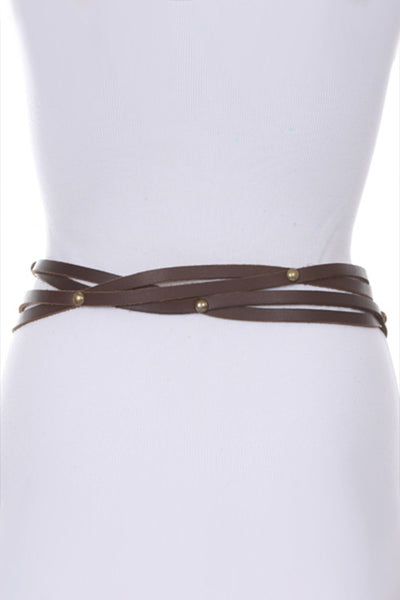 M Rena Double Wrap Leather Belt