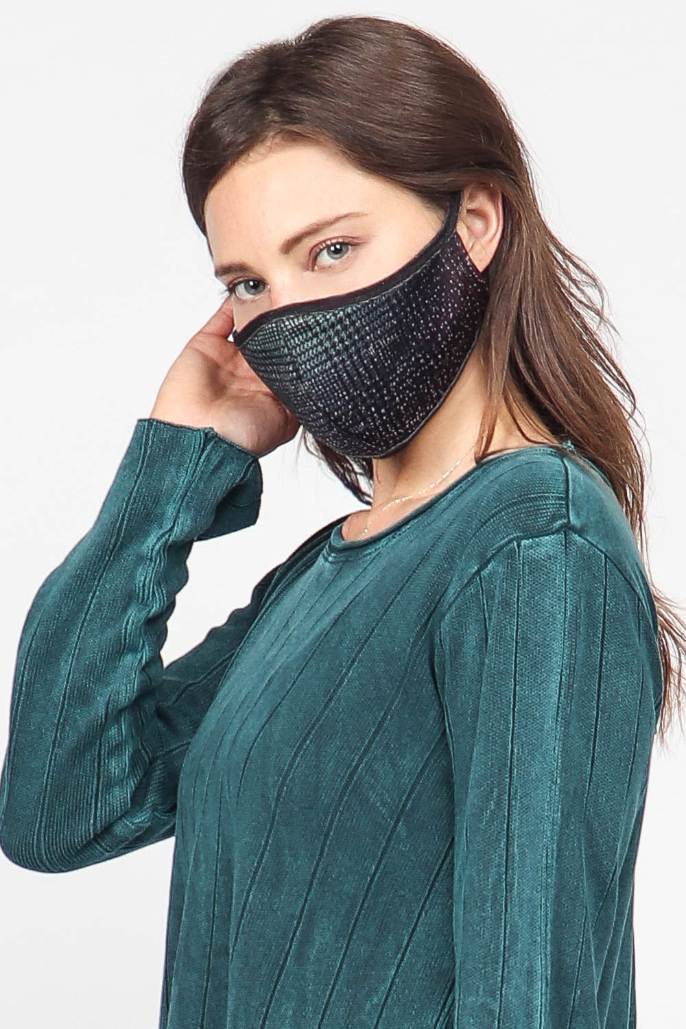 Ombre Houndstooth Mask
