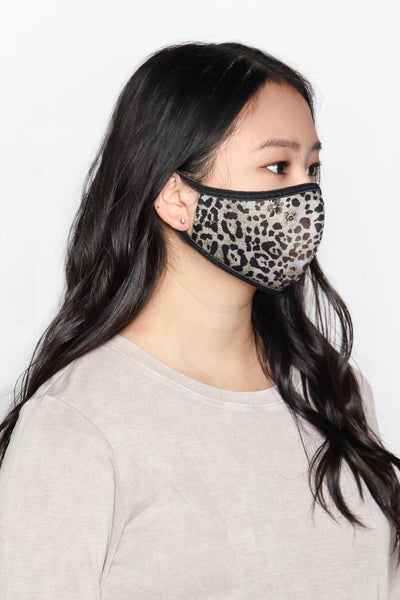 Floral Cheetah Mask