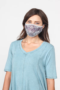 Mulberry Tie-Dye Mask