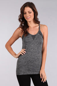 M. Leisure by M. Rena Black Mesh Design Racerback Tank