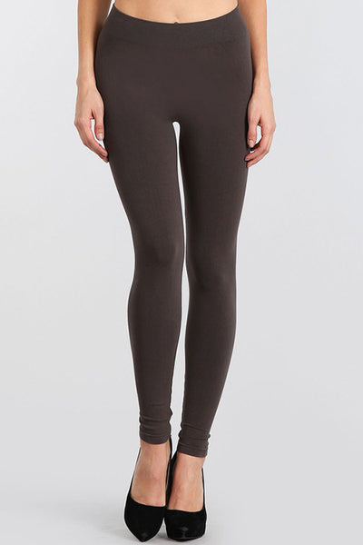 M. Rena Dark Grey Classic Full Length Leggings
