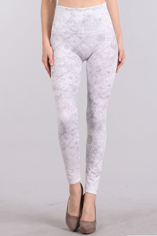 Patterned Marble Leggings