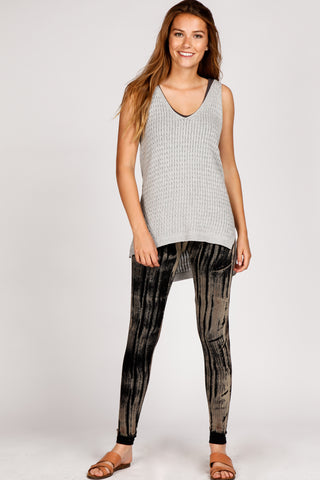 Wood Grain Brushstroke Leggings