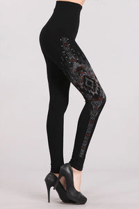 Abstract Design Tummy Tuck Legging