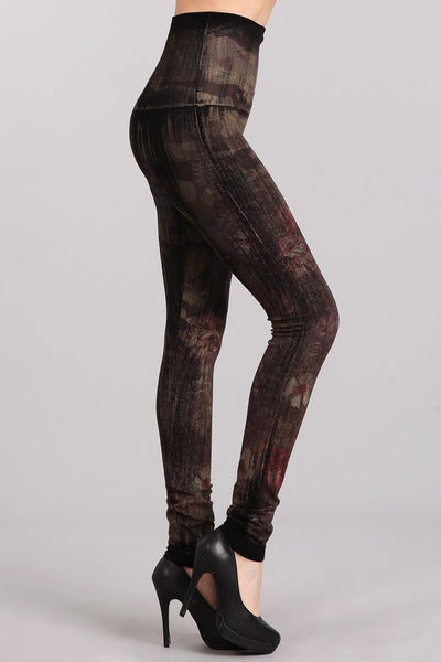 Floral Camo Brushed Leggings
