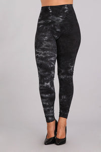 Plus Size - Tie-Dye Tummy Tuck Legging