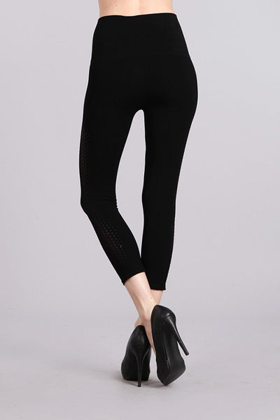 Triangle Gradient Burnout Cropped Tummy Tuck Legging