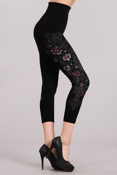 Antique Rose Printed Legging