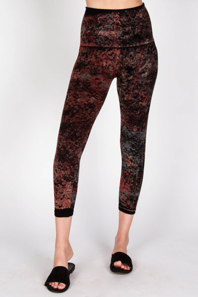 Distressed Patchwork Leggings