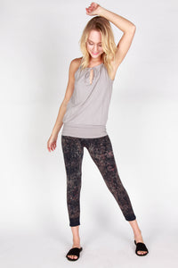 Distressed Ikat Leggings