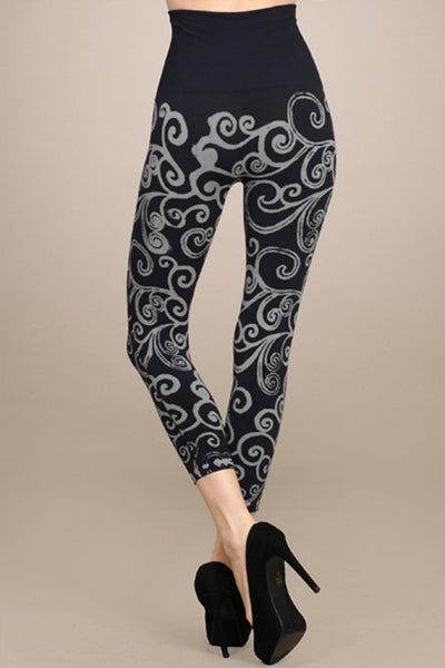 M. Rena Ink Printed Swirl Cropped Legging